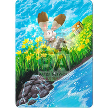 Bunnelby 97/119 Xy Phantom Forces Extended Art Custom Pokemon Card Textless Silver Holographic