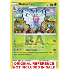 Butterfree 3/149 Sun & Moon Extended Art Custom Pokemon Card