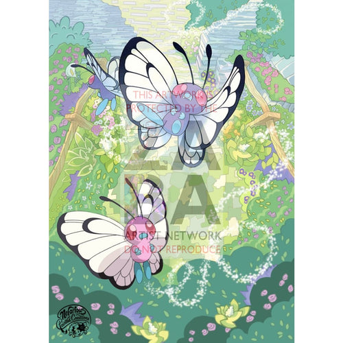 Butterfree 3/192 Rebel Clash Extended Art Custom Pokemon Card Silver Holo