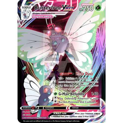 Butterfree Vmax Custom Pokemon Card Selective Holographic