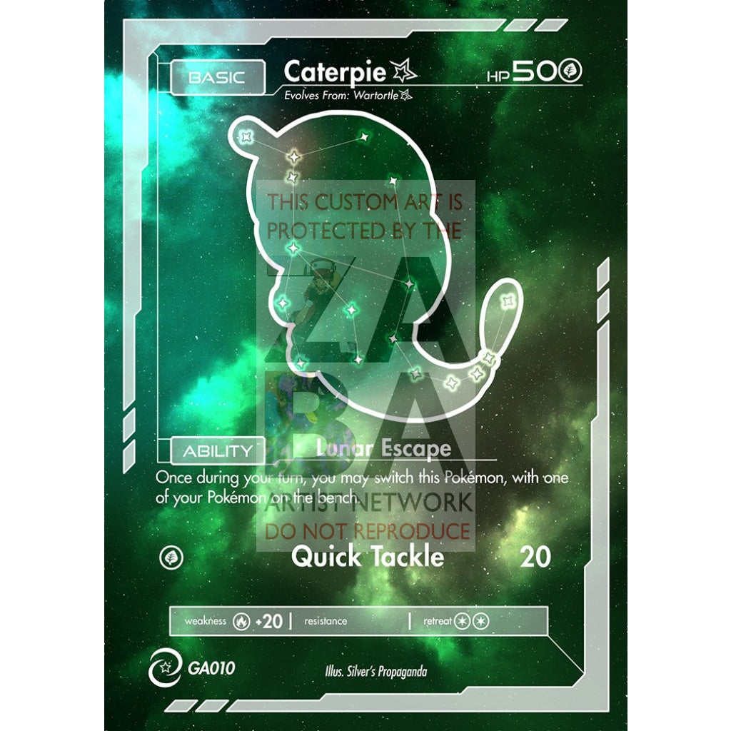 Caterpie Constellation Card - Custom Pokemon