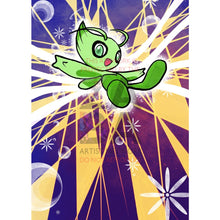 Celebi Sm79 Extended Art Custom Pokemon Card Textless Silver Holographic