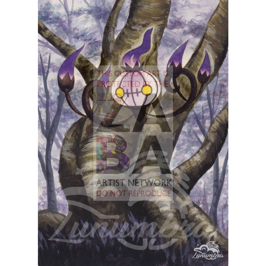 Chandelure 60/101 Black & White Noble Victories Extended Art Custom Pokemon Card Textless Silver