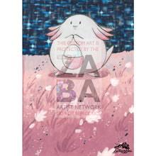 Chansey 3/102 Base Set Extended Art Custom Pokemon Card Textless Silver Holographic