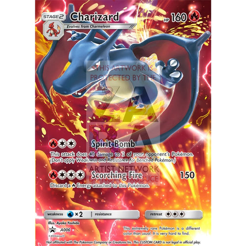 Charizard 136/135 Plasma Storm Extended Art Custom Pokemon Card Silver Foil / Text