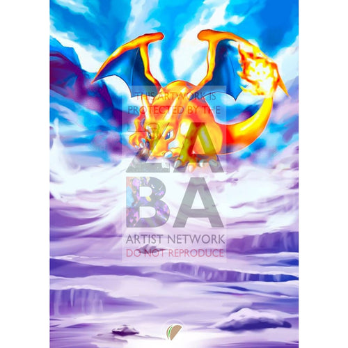 Charizard 39/165 Expedition Extended Art Custom Pokemon Card Silver Foil