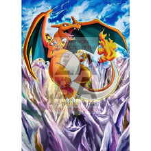 Charizard 4/100 Crystal Guardians Extended Art Custom Pokemon Card Textless