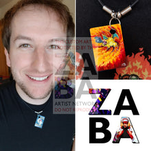 Charizard 4/102 Base Set (World First) Extended Art Custom Pokemon Card 18 Necklace (Pic For