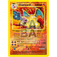Charizard 4/102 Base Set (World First) Extended Art Custom Pokemon Card With Original Text - Black