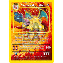 Charizard 4/102 Base Set (World First) Extended Art Custom Pokemon Card With Original Text - White