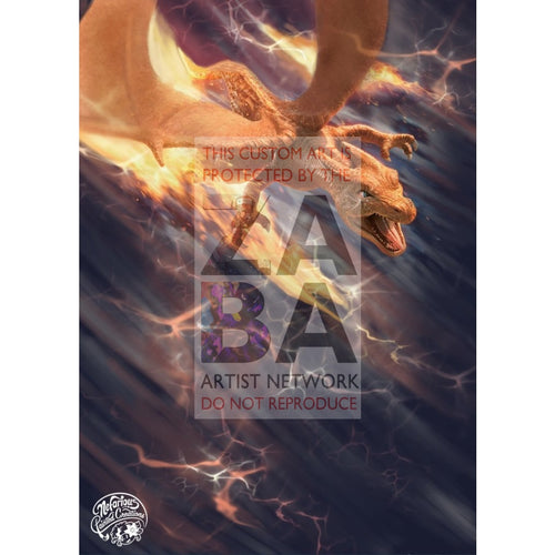 Charizard 5/18 Detective Pikachu Extended Art Custom Pokemon Card Silver Holo