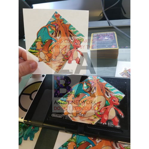 Charizard Evolution 4X4 Sticker - Custom Pokemon Sticker Card