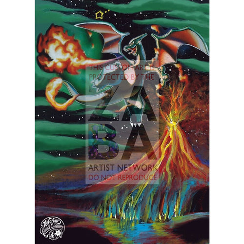 Charizard Gold Star 100/101 Dragon Frontiers Extended Art Custom Pokemon Card Silver Holo