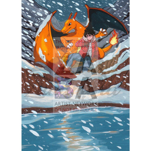 Charizard Rc5/rc32 Xy Generations Extended Art Custom Pokemon Card Textless Silver Holographic