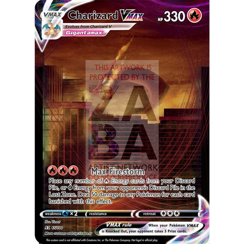 Charizard Vmax Custom Pokemon Card Silver Foil