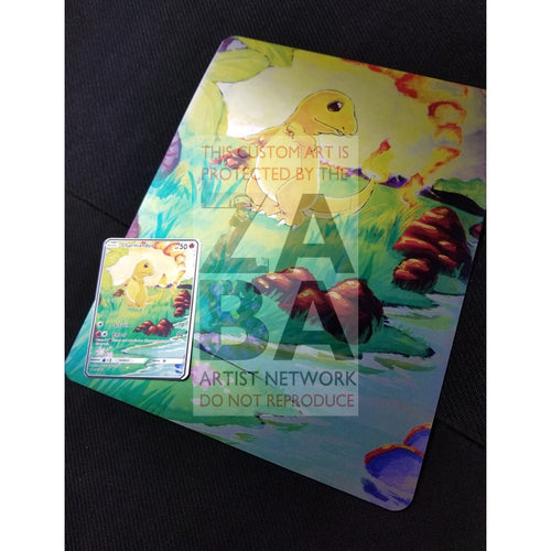 Charmander 46/102 8X10.5 Holographic Poster + Card Gift Set Only Custom Pokemon