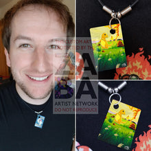 Charmander 46/102 Base Set Extended Art Custom Pokemon Card 18 Necklace (Pic For Reference)