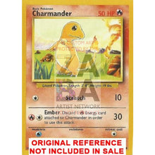 Charmander 46/102 Base Set Extended Art Custom Pokemon Card