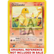 Charmander 46/102 Base Set Extended Art - Custom Pokemon Card