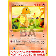 Charmander 46/102 Base Set V.3 Extended Art Custom Pokemon Card