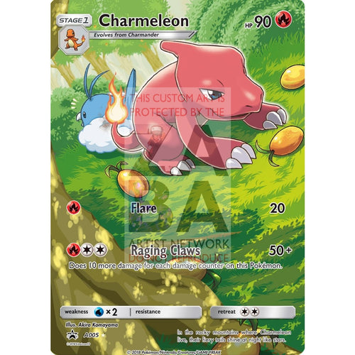 Charmeleon 18/113 B&w Legendary Treasures Extended Art Custom Pokemon Card Silver Holographic