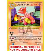 Charmeleon 24/102 Base Set Extended Art Custom Pokemon Card