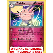 Clefable 82/122 Xy Breakpoint Extended Art Custom Pokemon Card