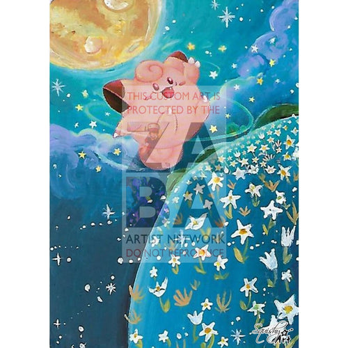 Clefairy 50/83 Generations Extended Art Custom Pokemon Card Textless Silver Holographic