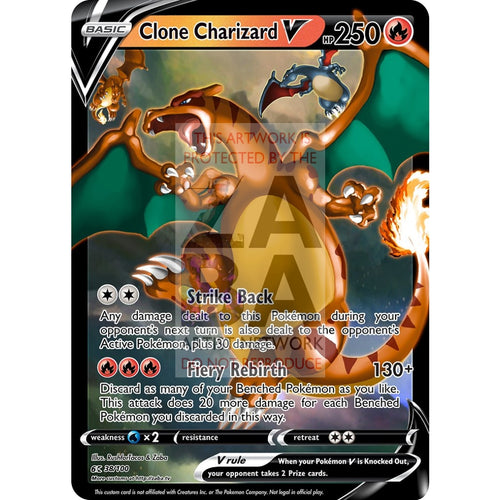 Clone Charizard V Custom Pokemon Card