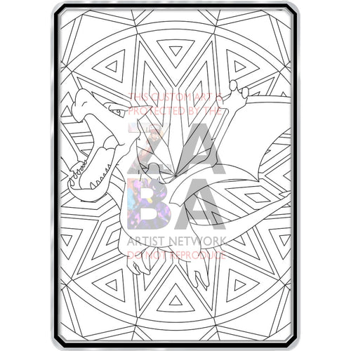 Color Me Aerodactyl - Custom Pokemon Coloring Card