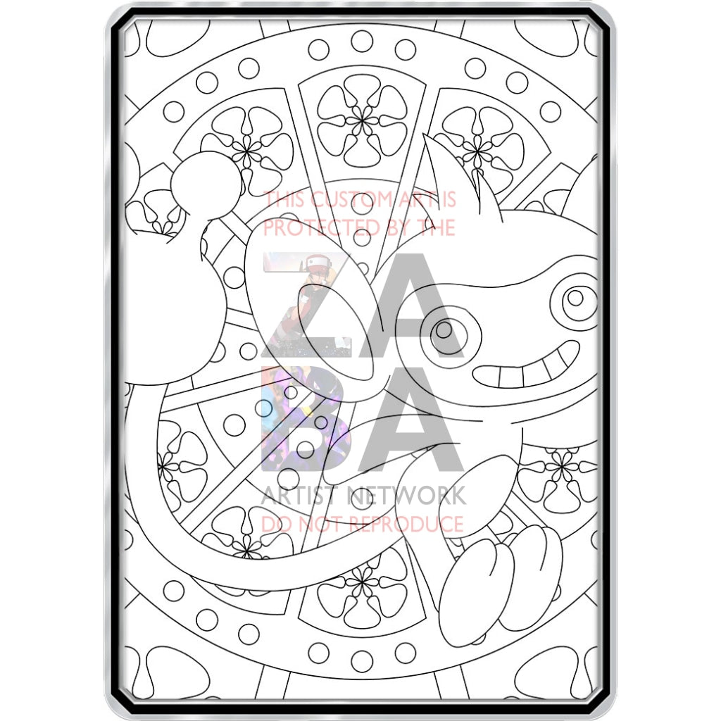 Color Me Aipom - Custom Pokemon Coloring Card