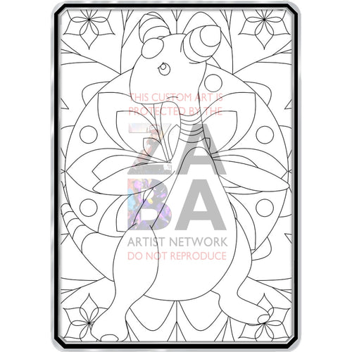 Color Me Ampharos - Custom Pokemon Coloring Card