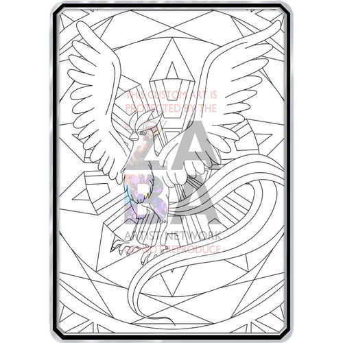 Color Me Articuno - Custom Pokemon Coloring Card