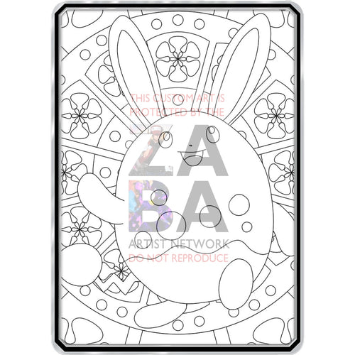 Color Me Azumarill - Custom Pokemon Coloring Card