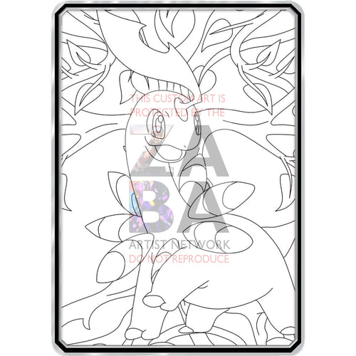 Color Me Bayleef - Custom Pokemon Coloring Card