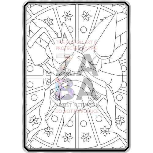 Color Me Beedrill - Custom Pokemon Coloring Card