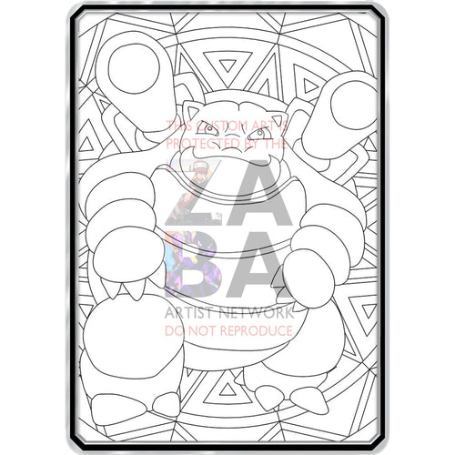 Color Me Blastoise - Custom Pokemon Coloring Card
