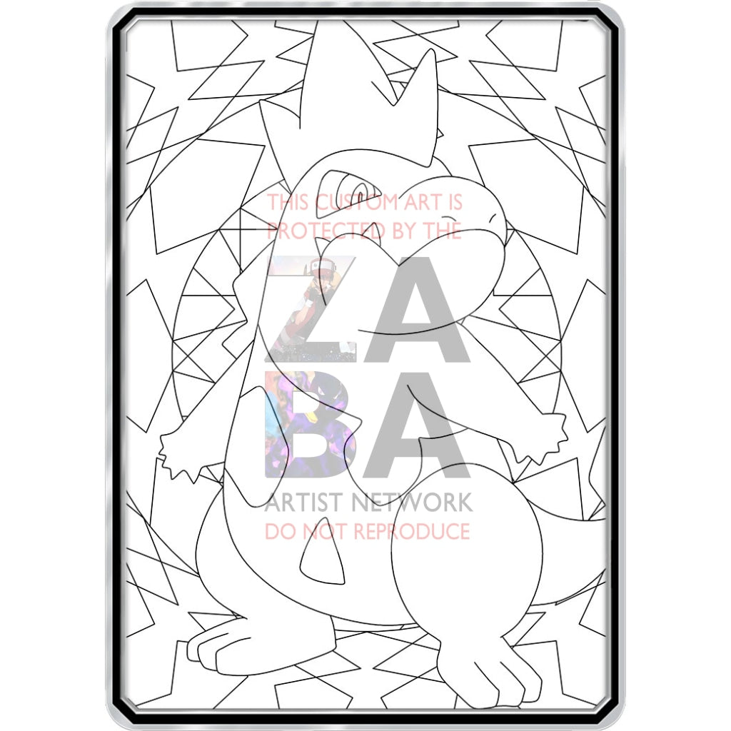 Color Me Croconaw - Custom Pokemon Coloring Card