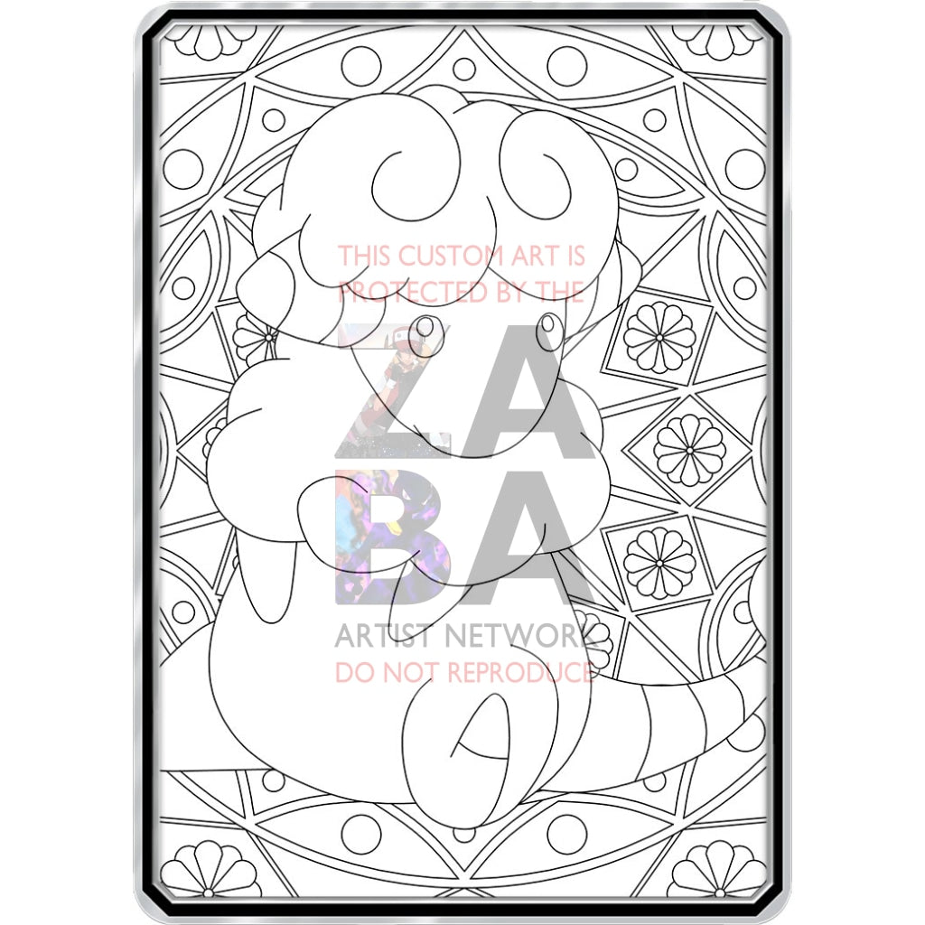 Color Me Flaaaffy - Custom Pokemon Coloring Card