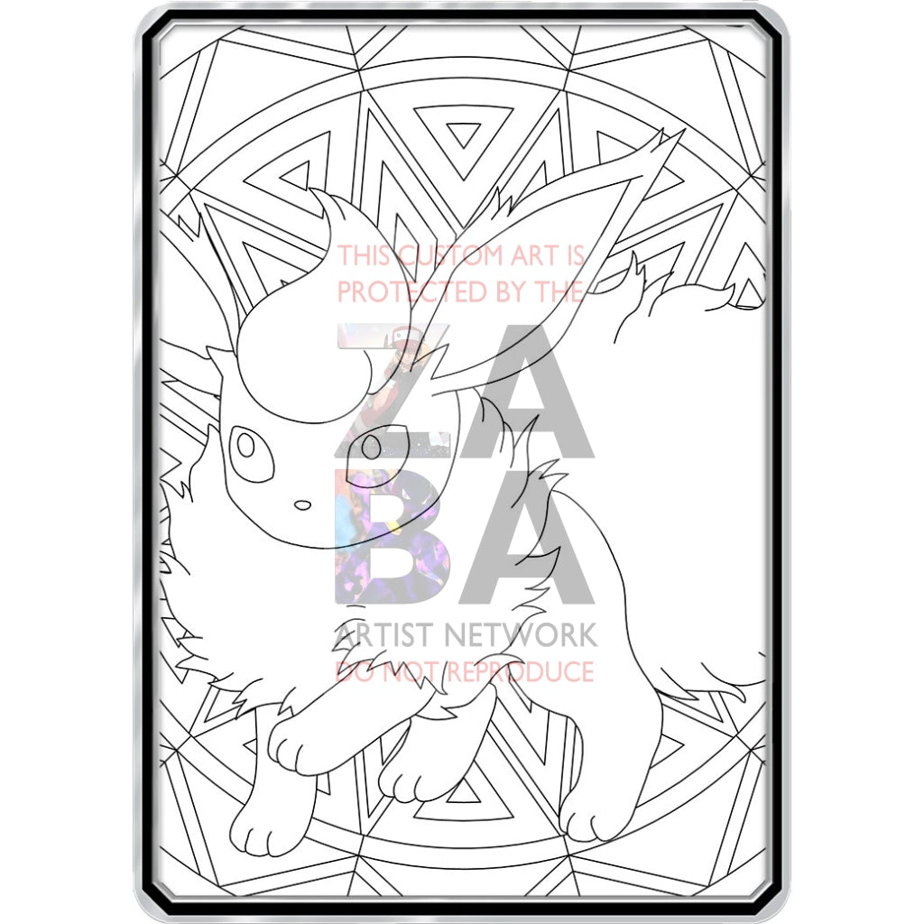 Color Me Flareon - Custom Pokemon Coloring Card