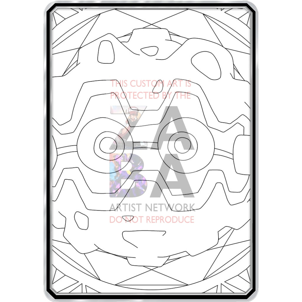 Color Me Forretress - Custom Pokemon Coloring Card