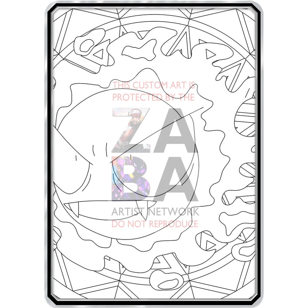 Color Me Gastly - Custom Pokemon Coloring Card