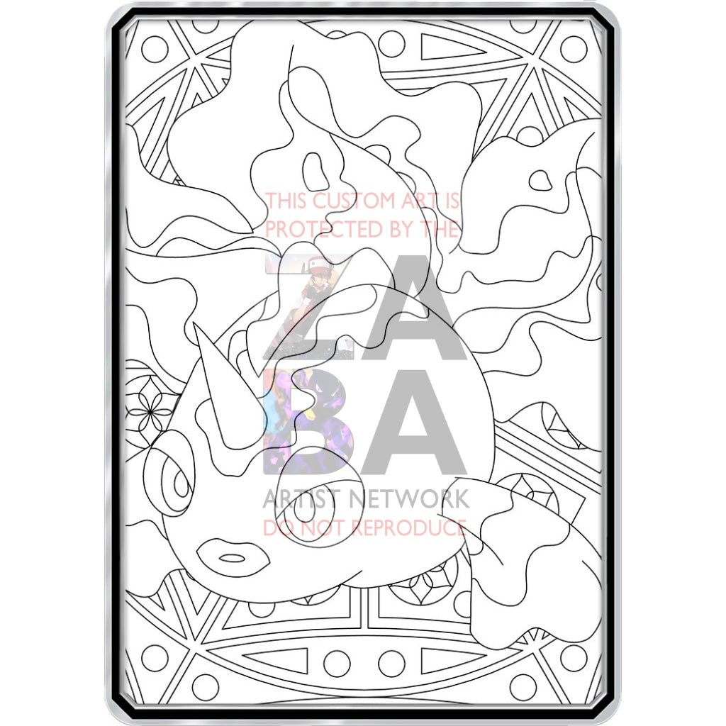 Color Me Goldeen - Custom Pokemon Coloring Card