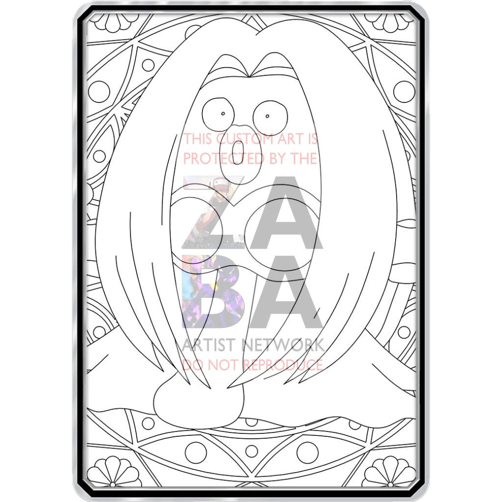 Color Me Jynx - Custom Pokemon Coloring Card