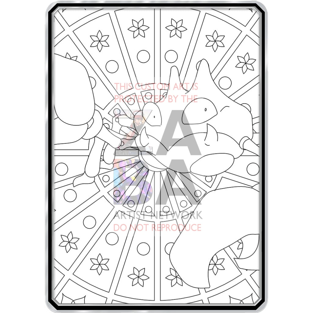 Color Me Krabby - Custom Pokemon Coloring Card