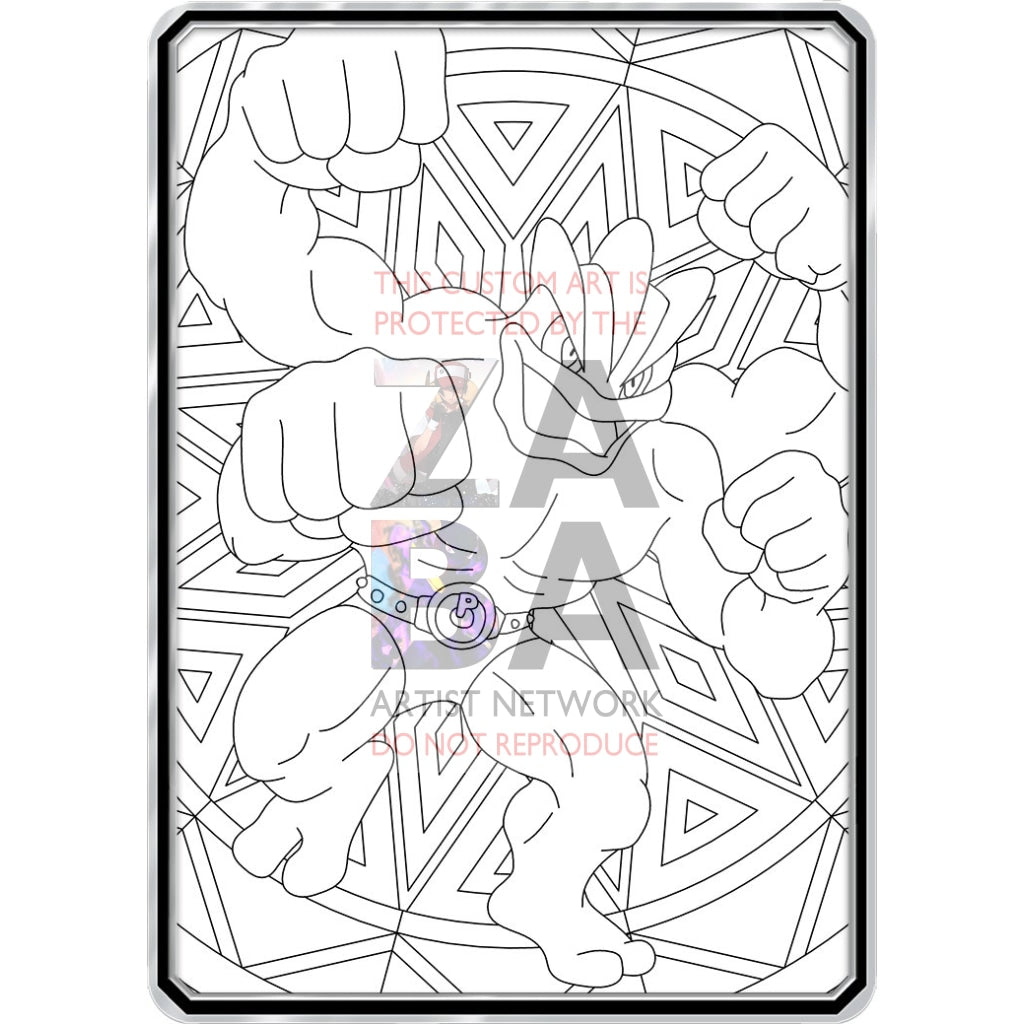 Color Me Machamp - Custom Pokemon Coloring Card