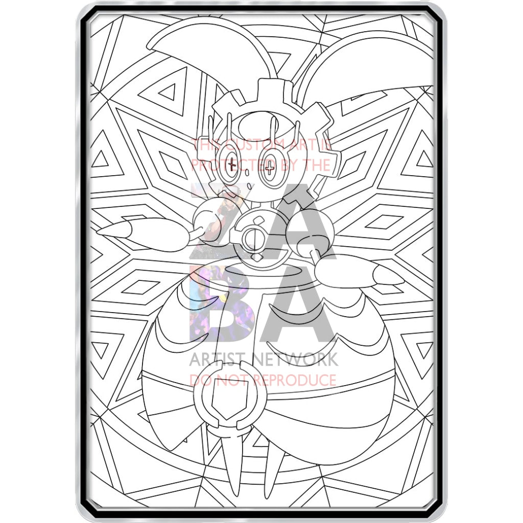 Color Me Magearna - Custom Pokemon Coloring Card