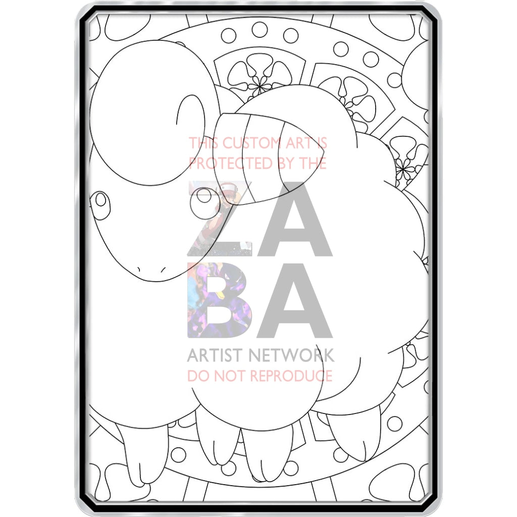 Color Me Mareep - Custom Pokemon Coloring Card