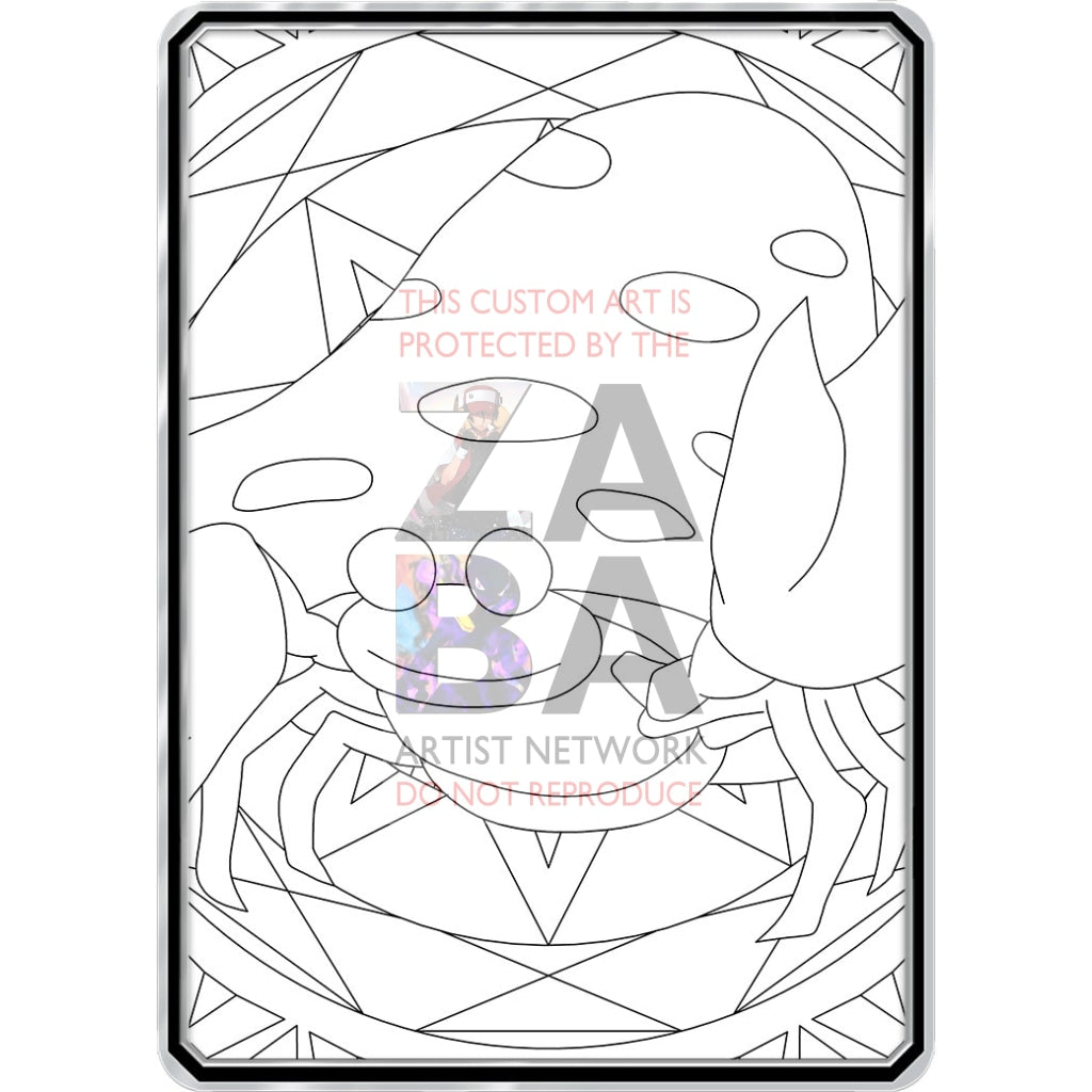 Color Me Parasect - Custom Pokemon Coloring Card