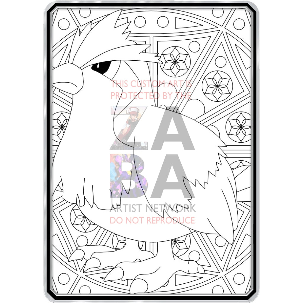 Color Me Pidgey - Custom Pokemon Coloring Card